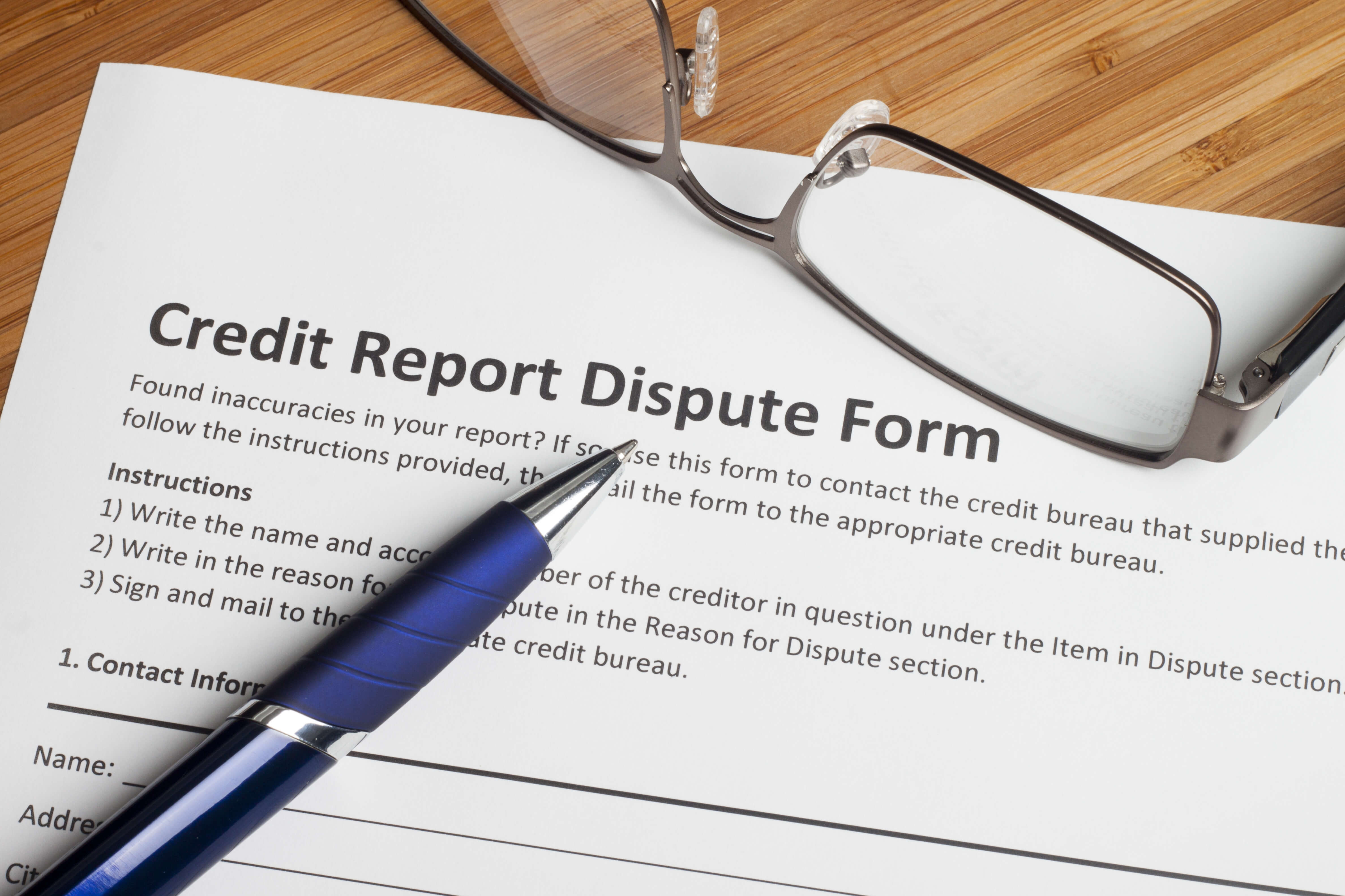 dispute an incorrect credit report entry with sample dispute letter